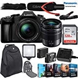 Panasonic Lumix DMC-G85 Mirrorless Micro Four Thirds Digital Camera with 12-60mm Lens + 128GB Ultra Sandisk Card, Camera Backpack, Comica Mic Pro, LED Light & More Accessory Kit