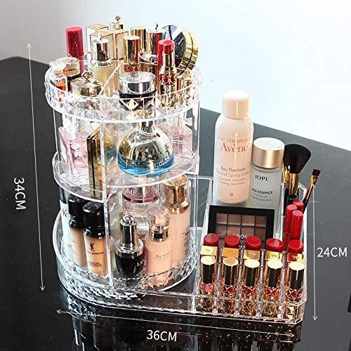 PSHKJ Rotierende kosmetische Aufbewahrungsbox Desktop-Schminktisch aus Acryl Lippenstift Hautpflege...