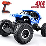 RC Truck Remote Control Car - RC Offroad Truck 1 12 Rock Crawler 2.4GHZ Electric Vehicle for Boys and Girls,Blue