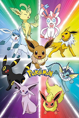 GB Eye Eevee Evolution Pokemon -  Póster maxi