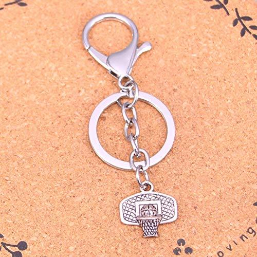 YCEOT verchroomde metalen sleutelhanger voor beste cadeau basketbal mand sleutelhanger antieke