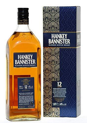 Hankey Bannister 12 Years old, blended Scotch Whisky 40%, 1,0 Liter Flasche im Geschenk-Karton