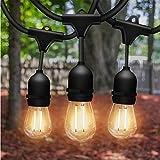 Solatec LED String Lights, Shatterproof 48FT 15 Hanging Sockets Commercial Grade...