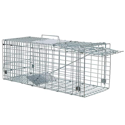 ANT MARCH Live Animal Cage Trap 24'x8.5'x7.5'' Steel Humane Release Rodent Cage for small Cat,...