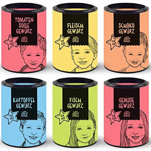 Just Spices 6er Kids Gewürz-Box   6 leckere Gewürze extra für Kids   Ideal als Geschenk-Set für die ganze Familie