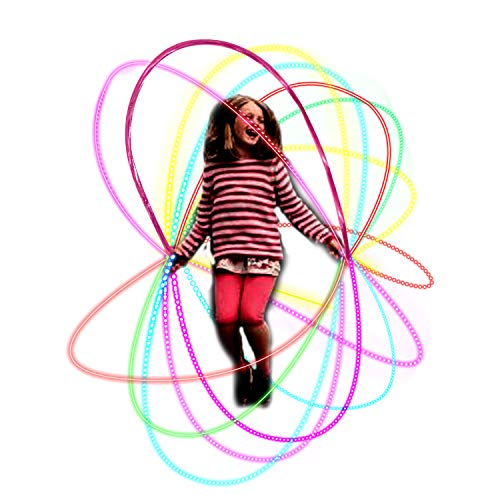 Jump & Skipping Rope with LED Light Up for Kids Girls Boys Beginners Students Adults Indoor Outdoor Jumping Exercise & Night Party Favors
