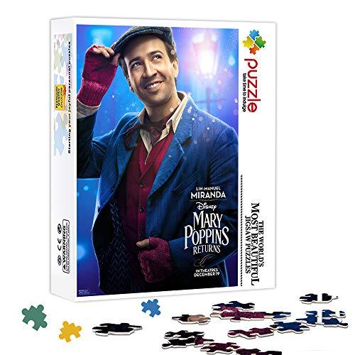 KKASD Puzzle Impossibile 500 Pezzi Il Ritorno di Mary Poppins : Jack Puzzle in Legno Gioco di decompressione Puzzle Gioco per Famiglie, Puzzle Presente 52x38cm
