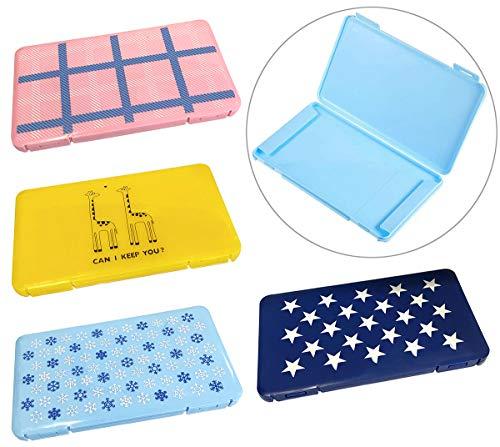 4-teilige Masken-Aufbewahrungsbox, tragbare Maskenbox Staubdichte Aufbewahrungsbox für Gesichtsabdeckungen Tragbare Gesichtsabdeckungs-Tasche