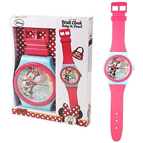 Minnie Orologio da Parete Rosa   Clock per i Bambini   92,0 cm   Topolino Mouse