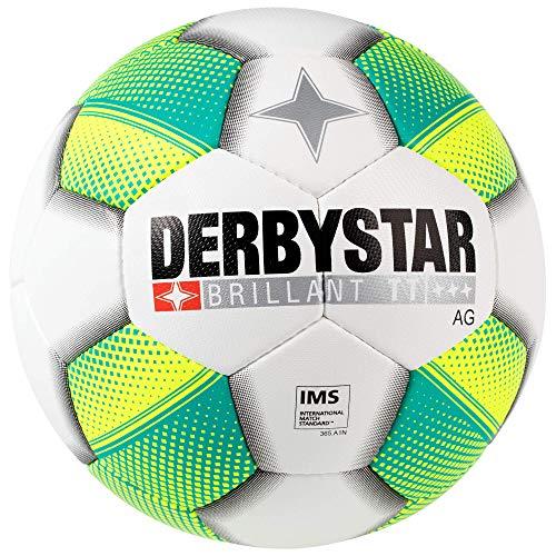 Derbystar Brilliant TT AG Fußball weiß/grün, 5