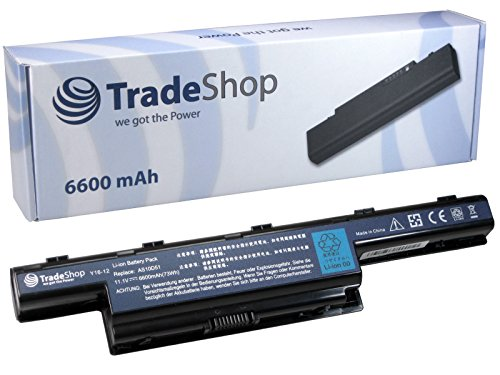 Hochleistungs Laptop Notebook Akku 10,8V/11,1V 6600mAh für Acer Aspire 5750 5750G 7551G 7551 7551 ersetzt AS10D51 LC.BTP00.123 AS10G3E AK.006BT.075 AS10D73 AK.006BT.080