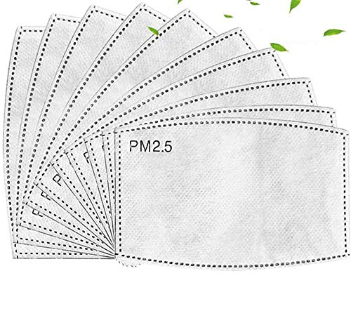 Timess 50/100 Stück PM2.5 Austauschbare Filter Aktivkohlefilter Blätter Einatmen Filterpapier 5 Schichten Anti-Dunst-Filter Tuch Austauschbare Anti-Dunst-Nebelfilter (Erwachsene-100PCS)