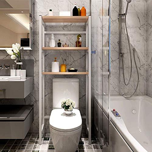 HYY-YY Mensola 3-mensola sopra il WC Scaffale Fiore stand Bagno dell'agenda elettronica tramite la lavatrice e asciugatrice Magazzinaggio Home Organizer (Colore: Bianco, Dimensione: 70 x 29 x 167 cent