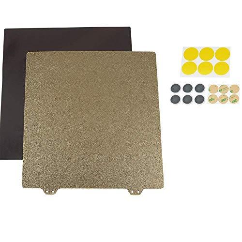 Jiahong Accessoires Accessoires, 235 * 235mm magnétique Flexible Hotbed Surface AB Côté chauffée Chambre Autocollant avec 6 Bloc magnétique for imprimante d'imprimante 3D Imprimante 3D