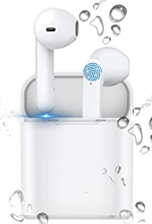 Wireless Earbuds, Bluetooth 5.0 Earbuds, IPX7 Waterproof Bluetooth Headphones, with Charging Case Built-in Microphone, Tou...