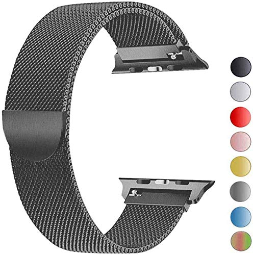 VIKATech Compatible Cinturino per Apple Watch Cinturino 44mm 42mm, Cinturino Orologio Bracciale in Acciaio Inossidabile Cinghia Banda Bracciale per iWatch Series 5/4/3/2/1, Space Gray
