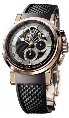 Breguet Marine Tourbillon Chronograph Rose Gold Watch 5837BR/92/5ZU