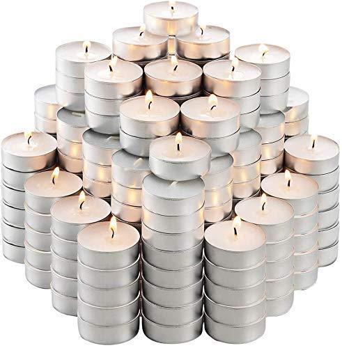 50Pcs Tea Lights 4 Hour Long Burn Night Light Candles Unscented Tealights UK