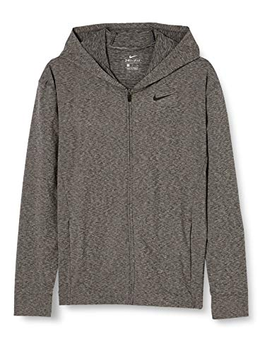 Nike Dri-FIT Sudadera con Capucha, Hombre, Black/Heather/Black, S