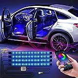 WILLED Iluminación LED interior para coche, APP Control, Interior Atmósfera Led Iluminación, Multi DIY Colors, Sincronización de música, Puerto USB de 5V