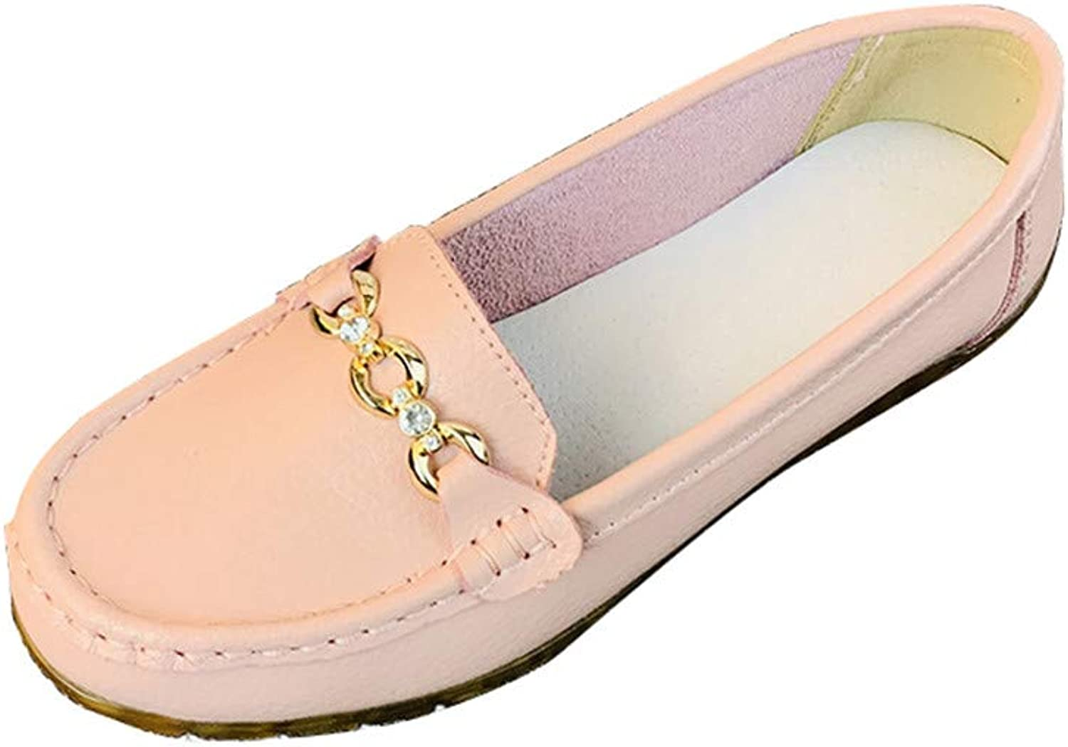 HULUN New Spring Leather Flat-Soled mothers'shoes with Soft Soles