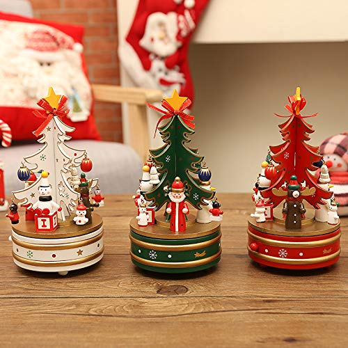 OneWorldOne『クリスマスツリー360度回転オルゴール』