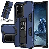 STORM BUY Phone Case for [ Samsung Galaxy S20 ], Heavy Dute Armor Back Cover with [Shock Absorption] Protection, Kickstand Ring Blue Case for for Galaxy S20 6.2 Inch (IRBE)