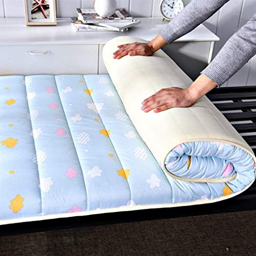Amazing Deal Huan Padded Floor Mattresses, Futon Mattresses, Japanese-Style Floor Mattress Pads, Thick Tatami Mats, Sleep Foldable Roll-up Mattresses, Breathable and Durable Mattresses (Size : 90x200cm)