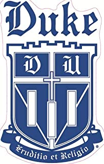 7 Inch Duke Crest Logo Decal Duke University Blue Devils Removable Wall Sticker Art NCAA Home Room Decor 4 1/2 by 7 1/2 Inches