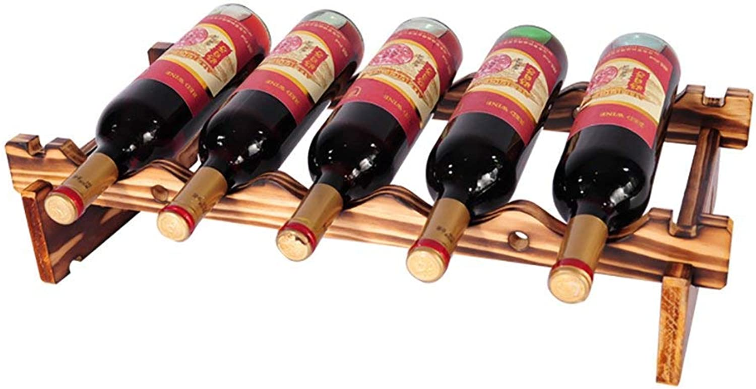 Red Wine Shelf DIY Wooden Handmade Wine Rack Ornaments Decorations for Kitchens Living Room(Smoked Black) (Size   79.7  30cm) (Size   59.7  30cm)