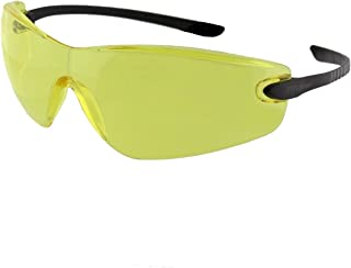 TITUS Slim-Line Safety Glasses (Without Pouch, Flexi-Frame - Yellow)