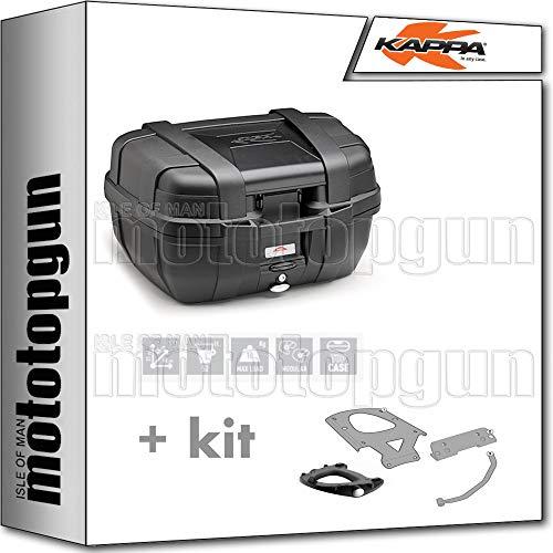 kappa maleta kgr52n garda 52 lt + portaequipaje monokey compatible con bmw c 650 sport 2019 19 2020 20