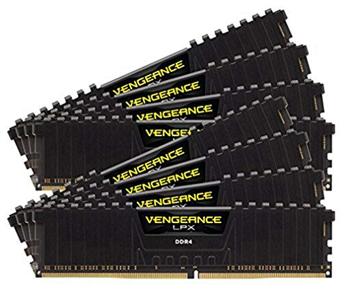 Corsair Vengeance LPX 64GB (8x8GB) DDR4 3200 MHz C16 XMP 2.0 High Performance Desktop Arbeitsspeicher Kit (mit Airflow Kühlung) schwarz