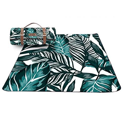 X-Labor Hohe Qualität Picknick Decke 200x200 cm Leder Gurt mit wasserdichter PEVA Unterseite Outdoor Stranddecke Campingdecke Motiv-C