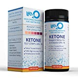 Keto Urine Test Strips 100ct, Ketone Urinalysis Testing Kit for Ketosis, Dip-Stick Tester to Measure and Monitor Ketones Level for Ketogenic, Atkins AMD Low-Carb Fat Burning Diets