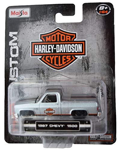 H D Custom Maisto Motor Cycles 1987 Chevy 1500, Silver