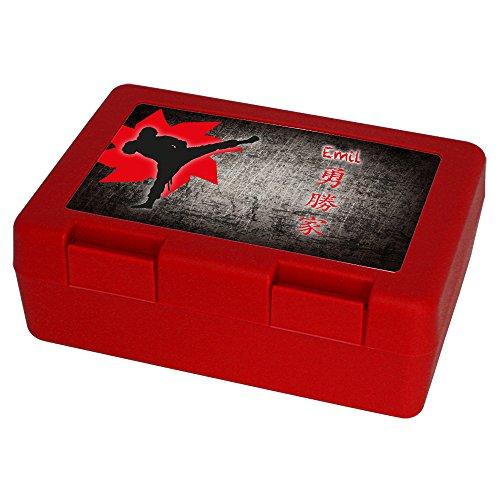 Brotdose / Brotbox mit Namen Emil und schönem Ninja-Motiv für Jungen