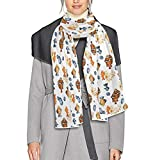 Scarf for Women and Men Watercolor Clown Fishes Blanket Shawl Scarves Wraps Soft Thick Winter Large Scarves Lightweight