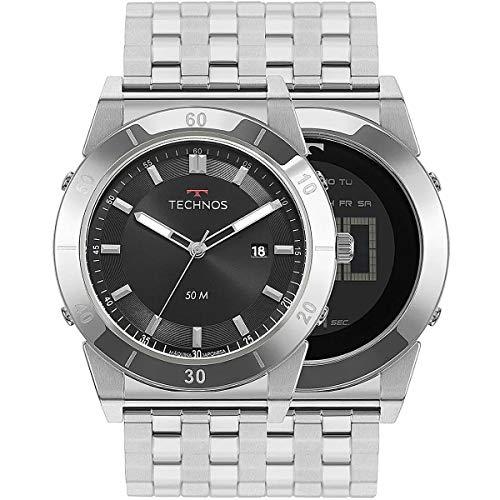 Relógio Technos Masculino Prata Pulseira Aço Prata