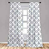 Lunarable Ships Wheel Curtains, Anchors and Steering Wheels Pattern Pirates Sailors Marine Themed Print, Window Treatments 2 Panel Set for Living Room Bedroom Decor, 56' x 63', Night Blue
