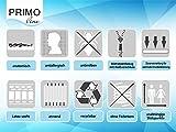 Primo Line Latexmatratze Memory Lux - 7 Zonen Matratze 80x200 H2 Höhe 20 cm RG 65 (bis 95 kg) - ÖKO TEX® Zertifiziert - 4