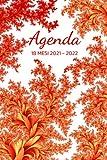 Agenda settimanale 18 mesi 2021/2022: claendario, planner settimanale 2021 2022 | Luglio 2021 - Dicembre 2022 | Fantasia astratta