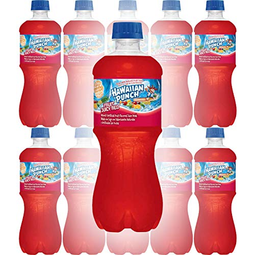 Hawaiian Punch Fruit Juicy Red, 20oz Bottle (Pack of 10, Total of 200 Oz)