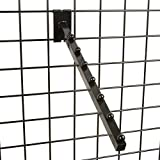 Only Garment Racks #1925B (0) Black 6-Ball Waterfall Fadeout for Wire Grid Wall (0)...