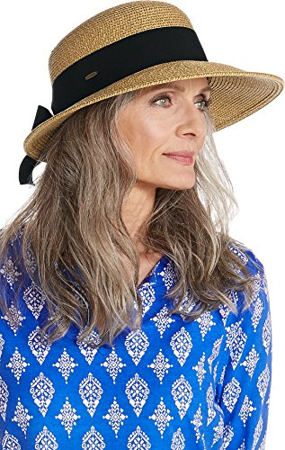 Coolibar UPF 50+ Women's Asymmetrical Clara Sun Hat - Sun Protective (One Size- Natural)
