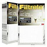 Filtrete 16x24x1 MPR 300 Pleated AC Furnace Air Filter 6-Pack, Basic Dust Clean
