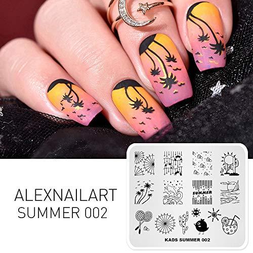 Alexnailart nagel kunst stempelen plaat Chinese stijl zomer sjabloon afbeelding plaat nagel kunst gereedschap SU002