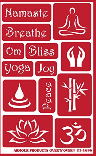 Armour Over n Over Reusable Glass Etching Stencil ~ ONO Namaste