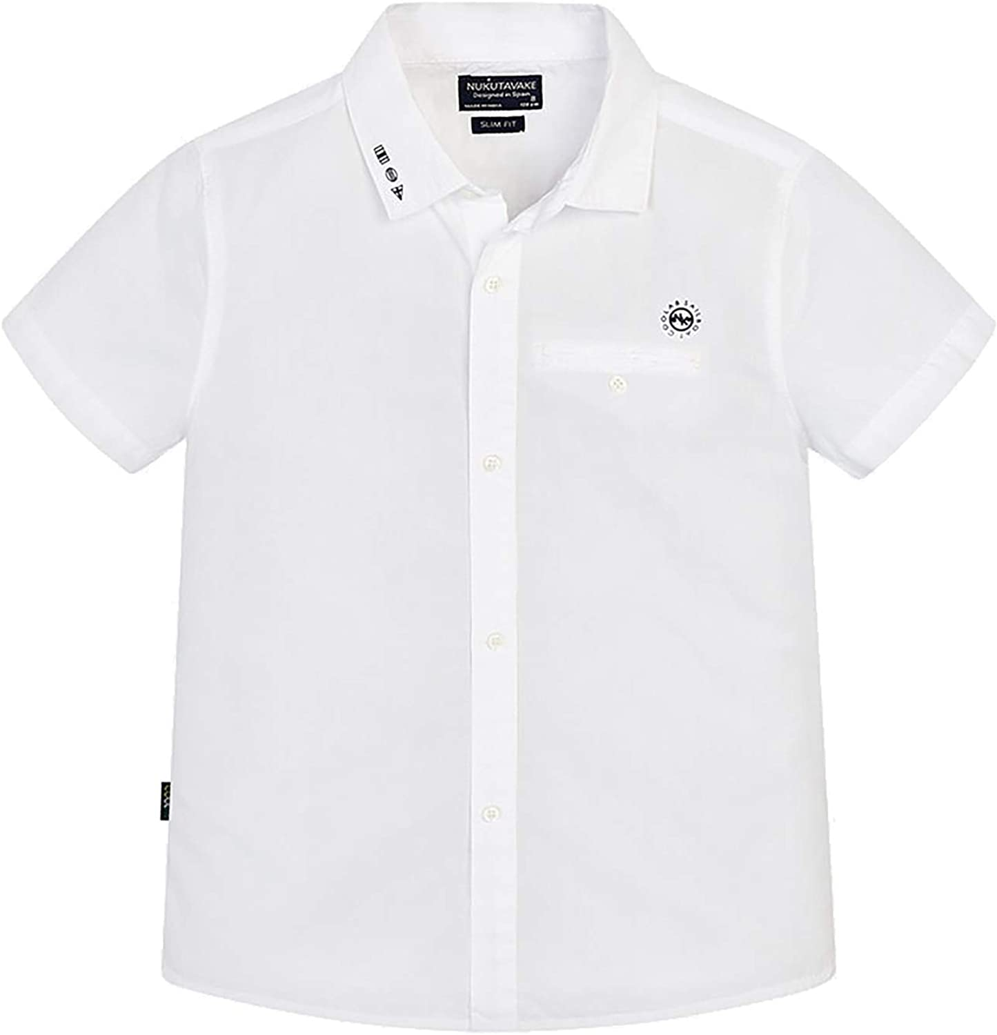 Mayoral - S/s Detail Shirt for Boys - 6124, White