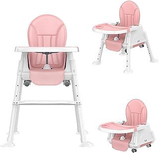 Baby High Chair, U-HOOME Baby Feeding Chair Toddler Chair Snack High Chair Seat Toddler Booster Furniture Detachable Doubl...